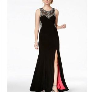 Betsy & Adam beaded gown size 2